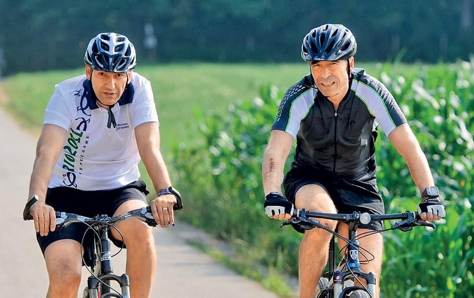 Janša in Rasmussen sta dobra prijatelja in oba navdušena športnika. (foto: N. Divja)