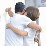 »Padli so tudi poljubi! Za zdaj samo na lička ... (foto: N. Divja)