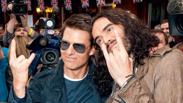 Tom Cruise in Russell Brand (foto: Profimedia.si)