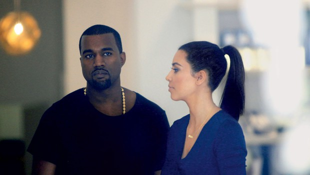 Kanye West in Kim Kardashian (foto: Shutterstock)