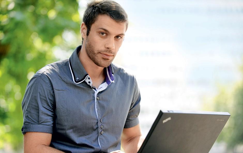 Bojan Ilijanič: Strasten maneken, ambiciozen podjetnik (foto: Primož Predalič)