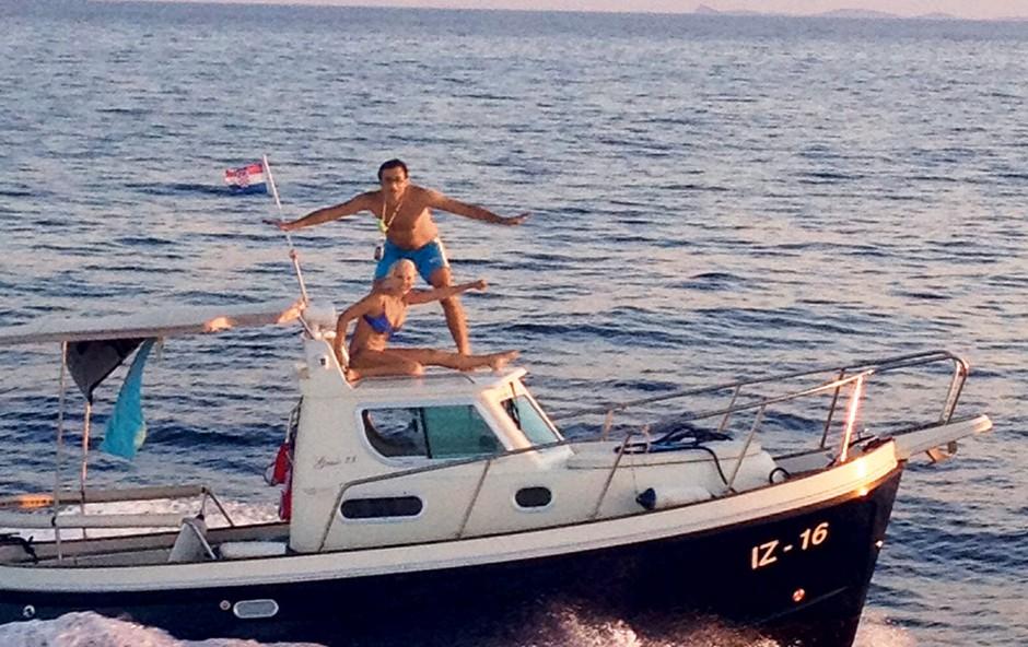 Tanja Ribič in Branko Đurić: Uživala v morskih radostih (foto: Story press)