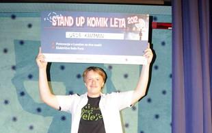 Stand up komika leta 2012 je Uroš Kuzman