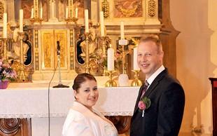Erika Mubi in Damijan Smolak: Poročna pravljica v cerkvi