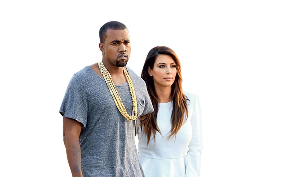 Kayne West in Kim Kardashian (foto: Profimedia.si)