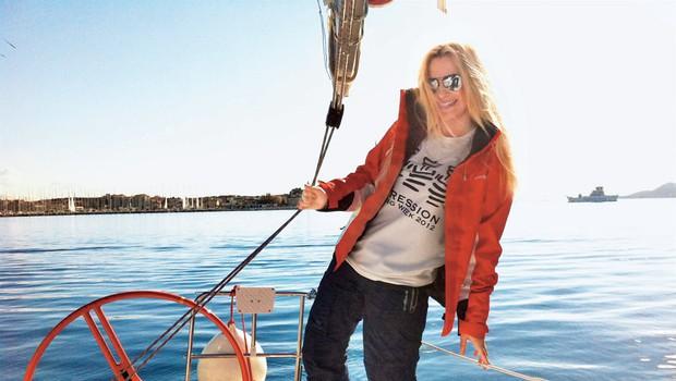 Danica Lovenjak je na jadranju uživala kot prava morska sirena. (foto: Osebni arhiv)