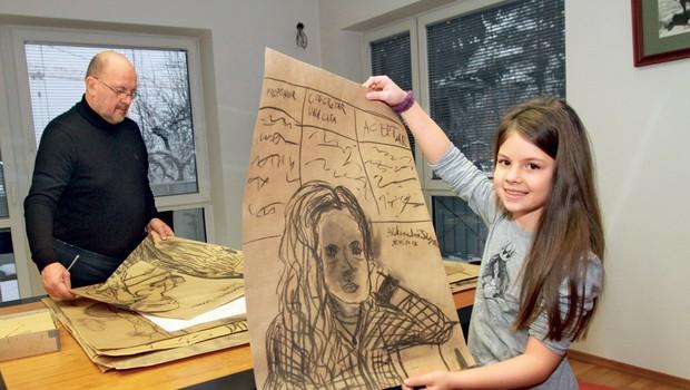 Aleksandra Tisa je med umetniki poimenovana kot čudežni otrok. (foto: Goran Antley)