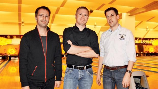 Ekipa podjetja Adacta, ki so ga zastopali Alex, Miha in Matej. (foto: Helena Kermelj)