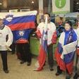 Fotografije: Sprejem hokejske reprezentance na ljubljanskem letališču!