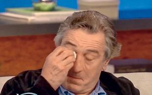 Robert De Niro: Razjokal se je pred kamerami