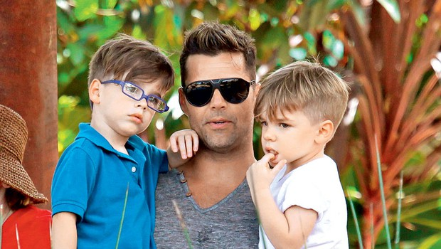 Ricky Martin s sinovoma v živalskem vrtu (foto: Profimedia)