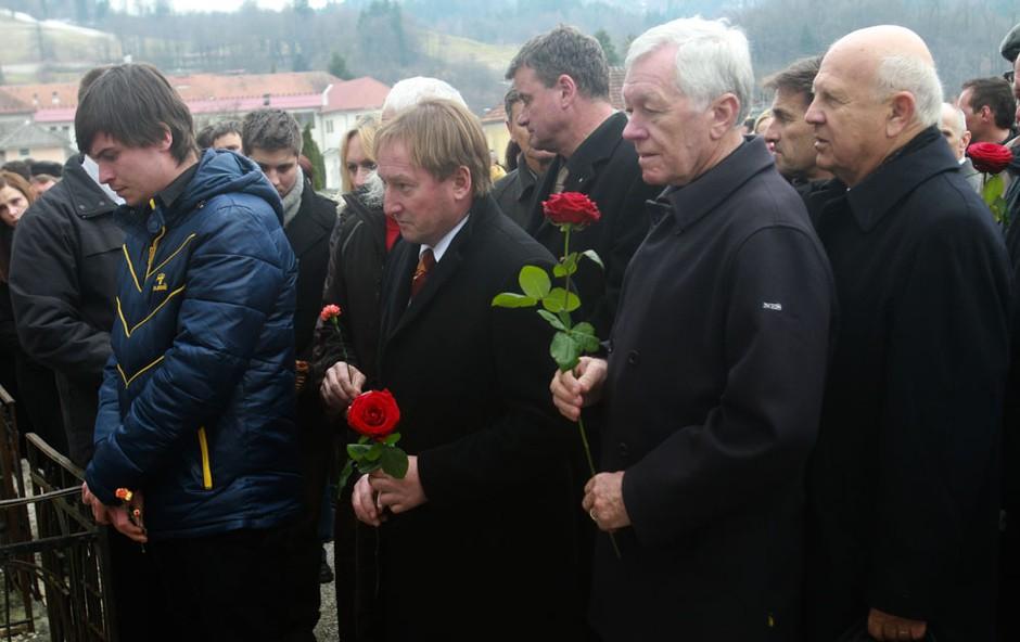 Bojan Križaj in Tone Vogrinec (foto: Goran Antley)