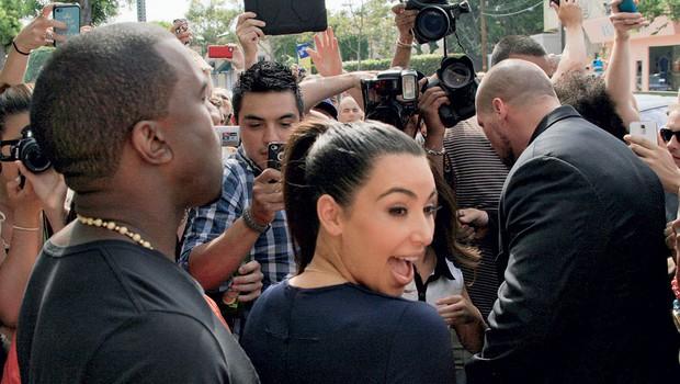 Kim Kardashian in Kanye West (foto: Shutterstock)