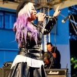 Strupena, kadarkoli se pojavi na odru: Alya. (foto: Katja Uran)
