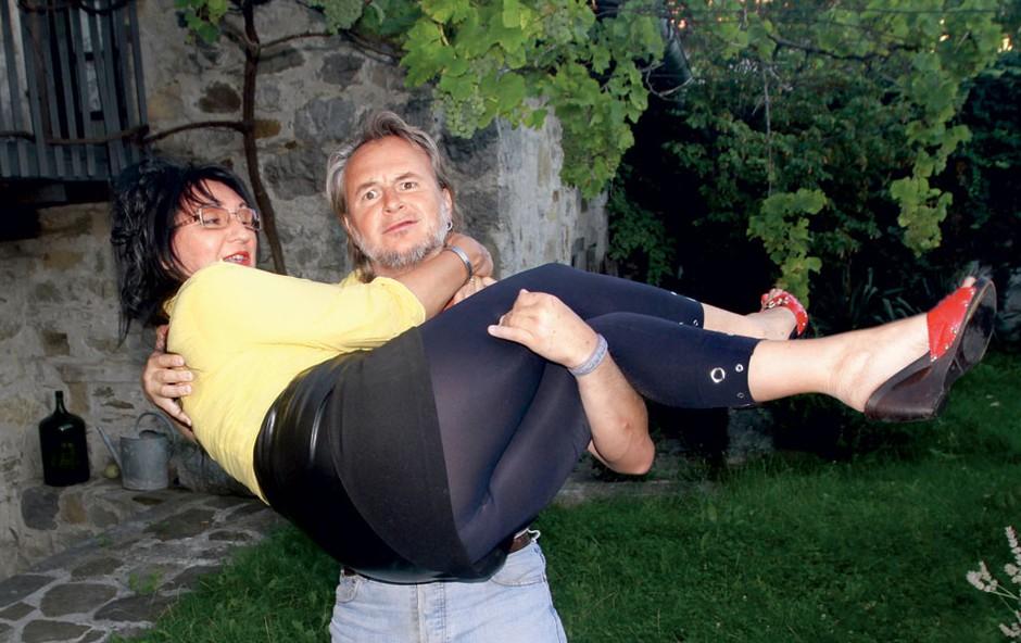 Artur Štern in Mija (foto: Goran Antley)