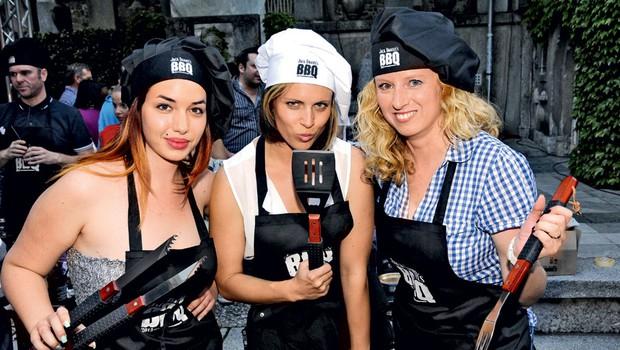 Edina popolnoma ženska ekipa je poživila tekmovanje: Saraja Pertič (Cosmopolitan), Manja Plešnar in Nina Keder (Nova).  (foto: Sašo Radej)