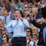 David Cameron je glasno navijal za svojega favorita. (foto: Profimedia)