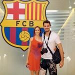 Ajda je oboževalka nogometnega kluba FC Barcelona, zato je bil obisk stadiona in muzeja prvi na seznamu dogodivščin na poročnem potovanju. (foto: osebni arhiv)