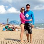 Oba sta ljubitelja morja, sonca in vodnih športov, zato ju je neskončna mestna plaža popolnoma očarala. (foto: osebni arhiv)