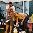 Aleksandra Čermelj: Preizkusila se je v strelih na gol