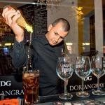 Spretni barman Goran je poskrbel za pravo predstavo ob mešanju koktajlov. (foto: A. K./Zaklop)
