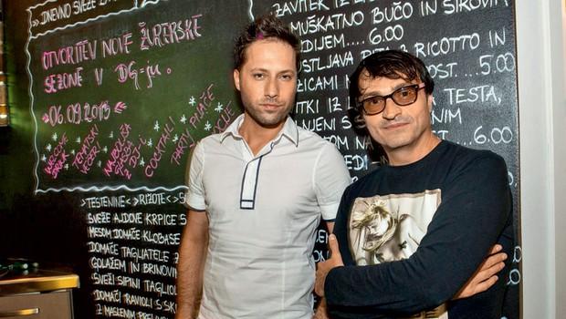 Darko, eden izmed solastnikov restavracije Dorian Gray, in DJ Peter Pleser se že veselita prihajajočih žurerskih vikendov. (foto: A. K./Zaklop)