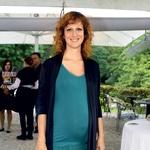 Visoko noseča Nika Veger je neustavljiva, rok poroda pa ima sredi oktobra. (foto: Primož Predalič)