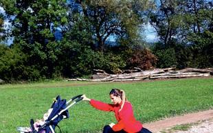Erika Žnidaršič trenira z hčerko