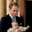 Krst bodočega britanskega kralja princa Georgea