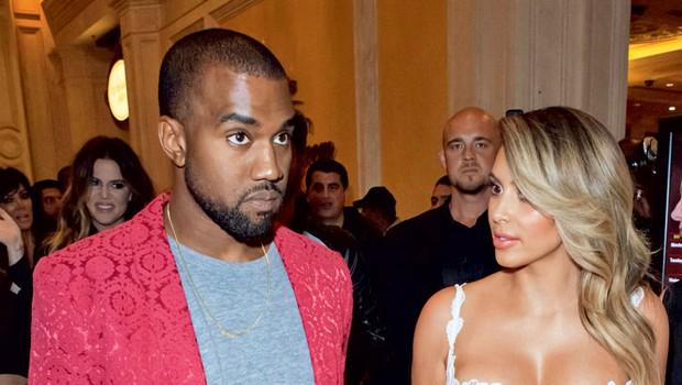 Kim in Kanye (foto: Profimedia)