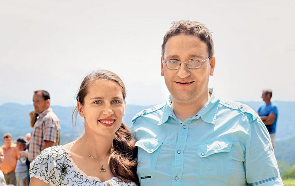 Vesna in Matej Franc Krajnc (foto: Helena Kermelj)
