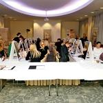 Pestro dogajanje med lepotnim predavanjem s kozmetiko Couleur Caramel in Undo. (foto: Helena Kermelj)