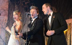 Princ William pel z Jon Bon Jovijem in Taylor Swift
