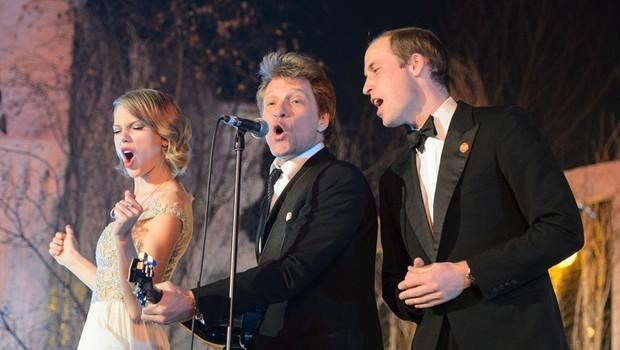 Princ William pel z Jon Bon Jovijem in Taylor Swift (foto: Profimedia)