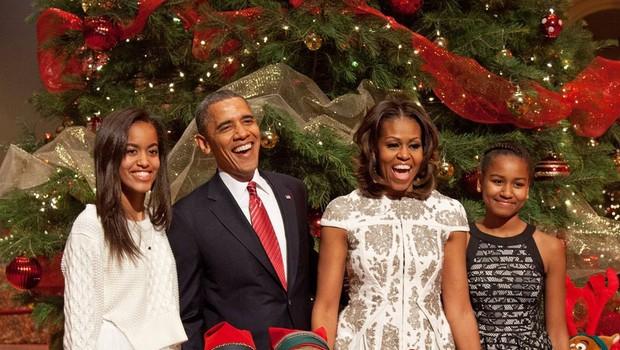 Obama z družino (foto: Profimedia)
