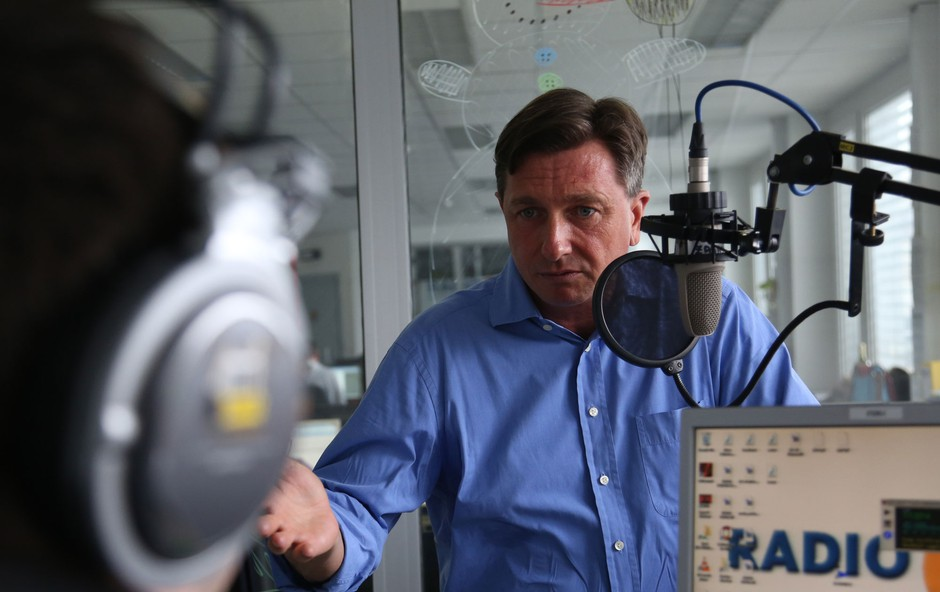 Kaj vse je Borut Pahor zaupal Boštjanu Romihu? (foto: Radio 1)
