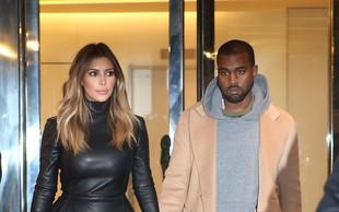 Kim Kardashian in Kanye West opažena v Parizu