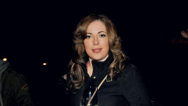Po dolgem času spet  na družabnem  dogodku – televizijka  Ana Tavčar Pirkovič. (foto: Sašo Radej)