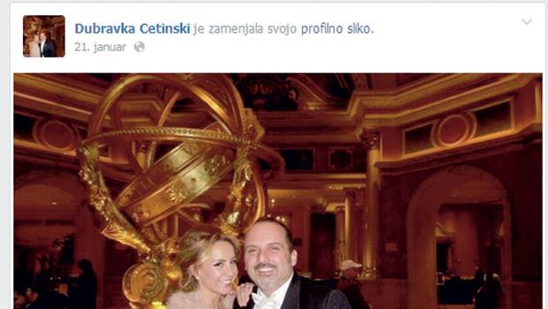 Fotografija s poroke, ki jo je Dubravka objavila na Facebooku. (foto: revija Nova)