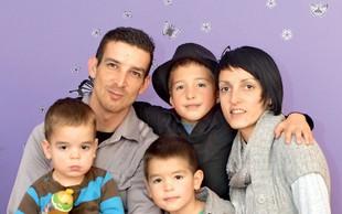Tomaževa žena Anita skrbi za bolne otroke