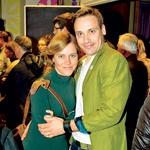 Novinarka Nika  Kunaver z možem,  igralcem Rokom  Kunavrom (foto: Zaklop.com)