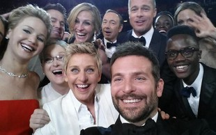 Ellen DeGeneres ima najboljšo fotografijo s podelitve oskarjev
