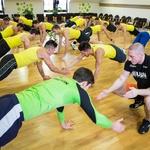 Fantje se niso predali vse do konca uro in pol dolgega treninga. (foto: Luka Brataševec)