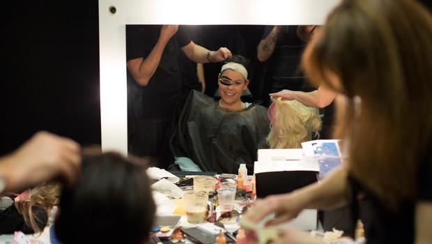 Ana Marija Mitić je v prvi oddaji imitirala Lady Gaga. (foto: POP TV)