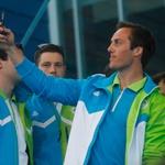 Naši šampioni rajali na olimpijskem sprejemu (foto: Goran Antley)