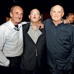 Nasmejani bratje Svetozar, Vasilij in Radko Polič (foto: Goran Antley)