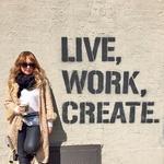 V Brooklynu je Nina naletela na grafit, ki jo je še posebej navdihnil. (foto: osebni arhiv)