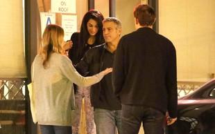 George Clooney z zaročenko na dvojnem zmenku