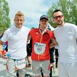 Triatlonec Matej Markovič, kajakaš Peter Kauzer in raper Zlatko Čordić (foto: Primož Predalič)