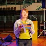 Slavnostno olimpijado je povezovala Tanja Kocman. (foto: revija Lea)